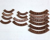Vintage US Patent Office Metal Plates / Assemblage Cast Metal Arc