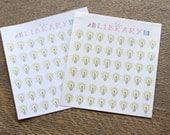 48 Lightbulb Reminder Planner stickers, perfect for Erin Condren, Filofax, Plum Paper, Kikki K
