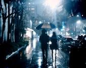 Colour Photography, Romantic, Love, Rainy, Dreamy, Blue, Fine Art Print
