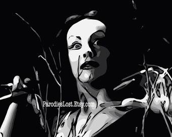 VAMPIRA PLAN 9 Print Ed Wood MST3K Mystery Science Theater 3000