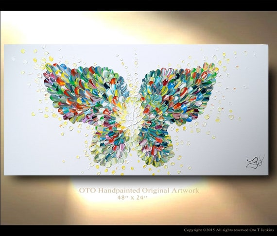 modern textured paintings butterfly textured modern contemporary abstract custom