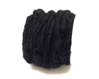 Craft Supplies - 32 Feet BLACK WIRED Yarn - Yarn Rope, Fairy Hair