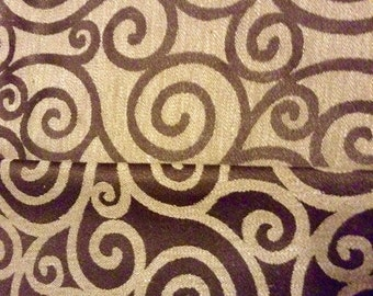 Brown swirl fabric