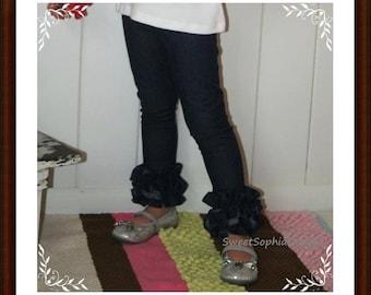 Girls Denim Double Ruffle Skinny Jeans ... Infant Toddler Youth Girl ... Robert Kaufman Denim