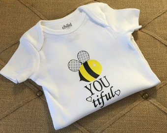 Bee-you-tiful Onesie, Bee, Baby clothes