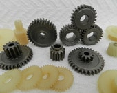 Small Gears- Robot Parts- Found Objects-Junk Drawer