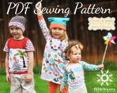 UNISEX Kids Clothes SEWING PATTERN, Digital Sewing Pattern, Childs T Sewing Pattern, Kids Knit Sewing Pattern, Bodysuit Sewing Pattern