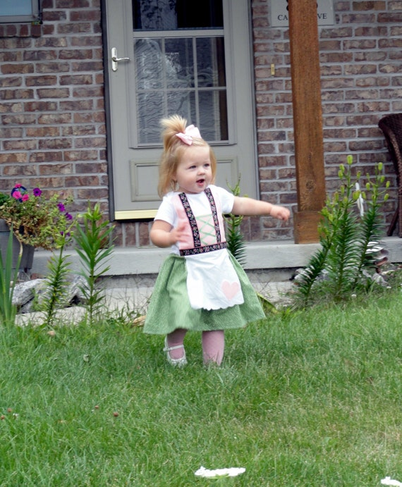 Baby Dirndl in Pink and Green