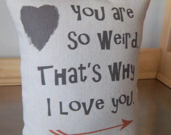 Weird gift pillow funny throw pillow canvas cushion weird boyfriend gift girlfriend gift gifts for men home decor cotton anniversary gift