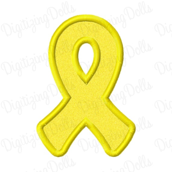 Digitizing Dolls Awareness Ribbon Applique Machine Embroidery Design 4x4 5x7 Military Army Support Our Troops INSTANT DOWNLOAD
