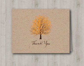 Printable Thank You Card - Courtship Tree - INSTANT DOWNLOAD