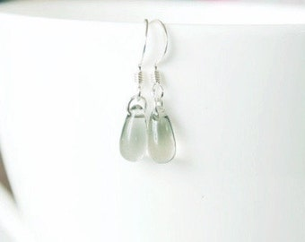 Winter Solstice - Simple sterling silver everyday delicate dangle earrings