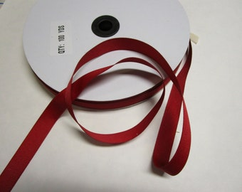 "100 yards 5/8"" Red Grosgrain ribbon.  New."