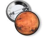 "Planet Mars - 1"" Pinback Button"