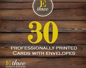 Printed Invitations - Printing for any of our designs - Card stock and Envelopes - 30 Prints