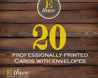 Invitation Printing - 20 Professionally printed cards - Printing