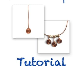 TUTORIAL  Scrolled Headpin that doesn't warp, wire wrap wrapping