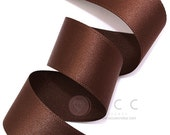 Brown Single Faced Satin Ribbon - 10mm(3/8''), 15mm(5/8''), 25mm(1''), and 40mm(1 1/2'') - Semi Gloss Flat Satin