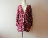 Red Elephant kimono,Oversize kimono jacket,kimono cardigan,Summer kimono,Women's Fashion Kimono,Shawl,Boho Clothing,hip length kimono