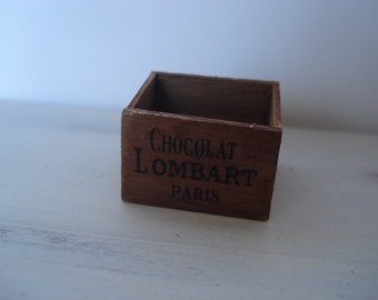 Miniature vintage wooden crate