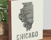 Chicago Art Print - Chicago Wall Art - Map Art - Map Print