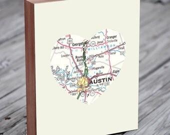 Austin Map - Austin Texas Wall Art - Austin Texas Map