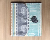 Memory Card Wallet, CF Holder - Grey Bicycles - holds 8 cards - Ready to Ship