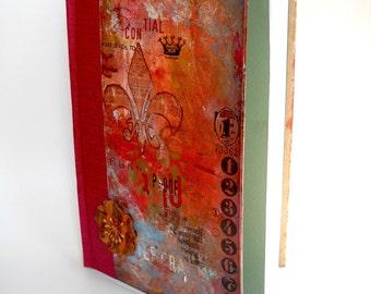Mixed Media Journal, Altered Art Diary, Altered Art Book, Handmade Journal, Hardcover Journal