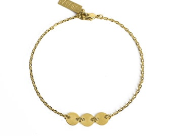 "ELEMENTS II - Gold plated bracelet ""Moon Trio"" (ELBR04)"