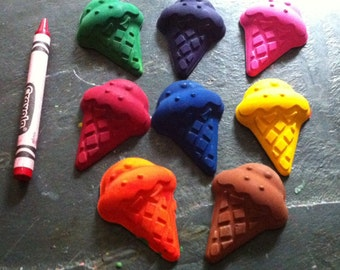 Ice cream cone crayons