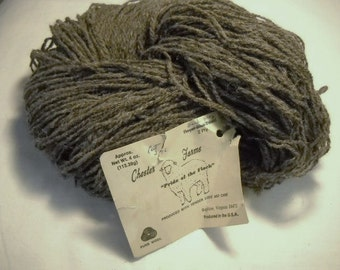 Fishermans wool yarn Chester Farms  natural brown  all wool  4 ounces