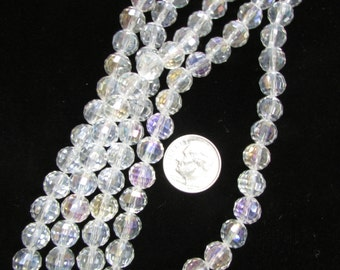 Chinese Crystal 8mm Rounds Crystal AB