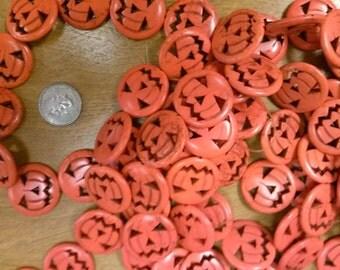 Jack-O-Lantern Pumpkin Beads-large