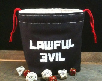 Lawful Evil Dice Bag