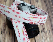 dSLR Camera Strap - Red Watercolor - Gift for Photographers - Mother's Day Gift