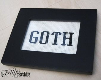 Goth Cross-Stitch Mini