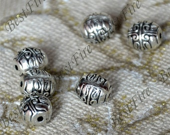 20 pcs 7x8 mm Antique silver  Interval beads, metal beads findings,Connectors findings beads,jewelry findings