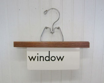 Vintage WINDOW Alphabet Letter Flash Card