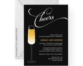 PRINTABLE - Champagne Engagement Party Invitation (Cheers)