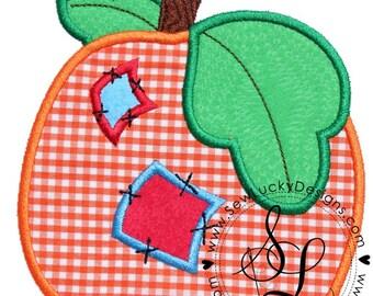 Pumpkin Patchwork Applique Design - machine embroidery design- Many formats - INSTANT DOWNLOAD