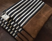 Striped Pouch Make-Up Bag