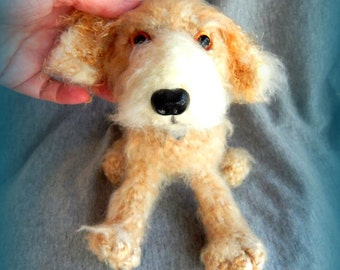Custom Dog, German Wire-haired Pointing Griffon Amigurumi, Dog Amigurumi Made to Order, Made to Order Dog from your Photos, Pet Replica