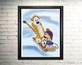 "Calvin and Hobbes word art print - 8x10"""