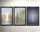 Lord of the Rings Poster LOTR Art Print Set