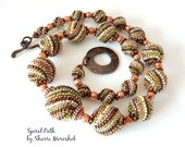 Spiral Path Beaded Bead Necklace by Sharri Moroshok