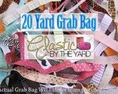 Elastic Grab Bag - 20 Yards - 15+ Prints - PRINTED FOE - 5/8th Inch Wide Fold Over Elastic