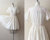 SALE - Vintage Day Dress / Full Circle Skirt Set / Rainbow Day Dress / Medium Large