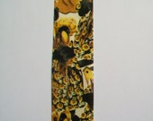 Ribbon Destash ~ Vintage Crows and Sunflowers Print Flat Edged Ribbon