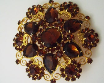 Juliana Delizza and Elster belt buckle topaz and gold tone