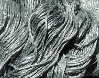 Embelished Silk Yarn - Gray